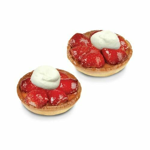 Tartelettes fraises à la crème fraîche - 2 pc.