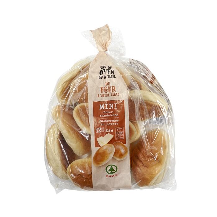 Spar mini sandwiches au beurre - 12 pc.