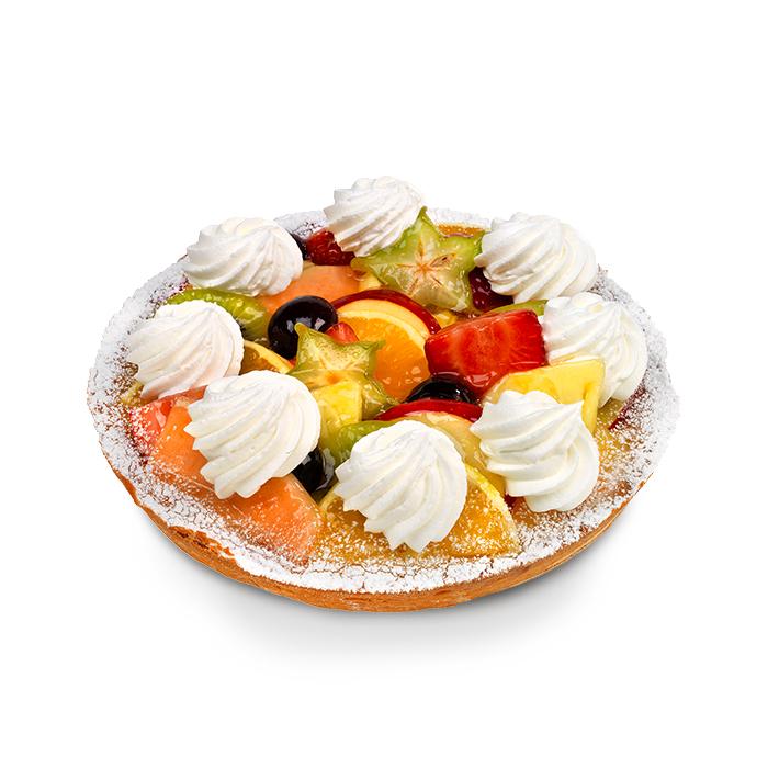 Croûte fruits frais à la crème fraîche - 6 pers.