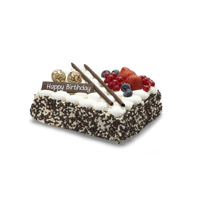 Gâteau d'anniversaire crème fraîche cerises - 8 pers.